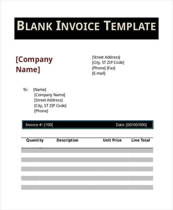 blank invoice20