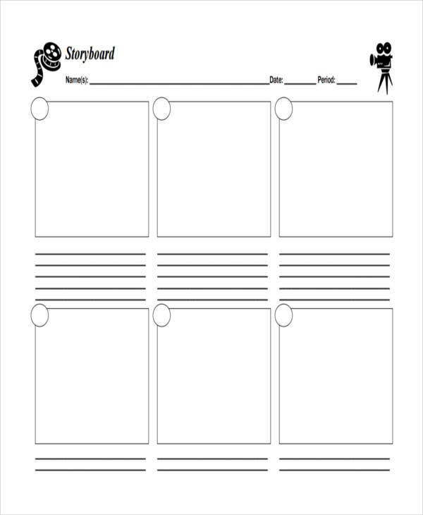 blank professional storyboard