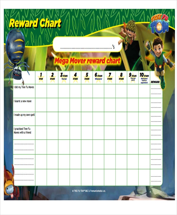 7  reward chart templates