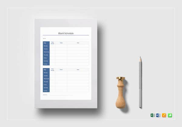 blank schedule template1