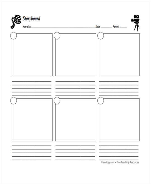 blank storyboard example