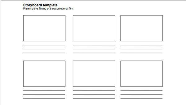 graphic about Printable Storyboard titled 9 Blank Storyboard Templates - Totally free Pattern, Instance Layout