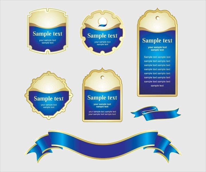 blue ribbon tag