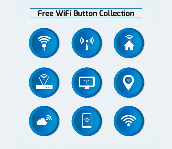 blue wifi buttons