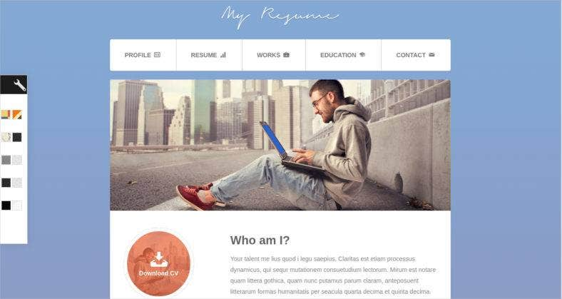 12 bootstrap resume templates responsive html bootstrap