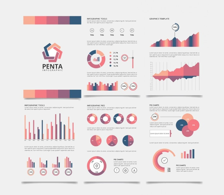 brochure infographic free vector