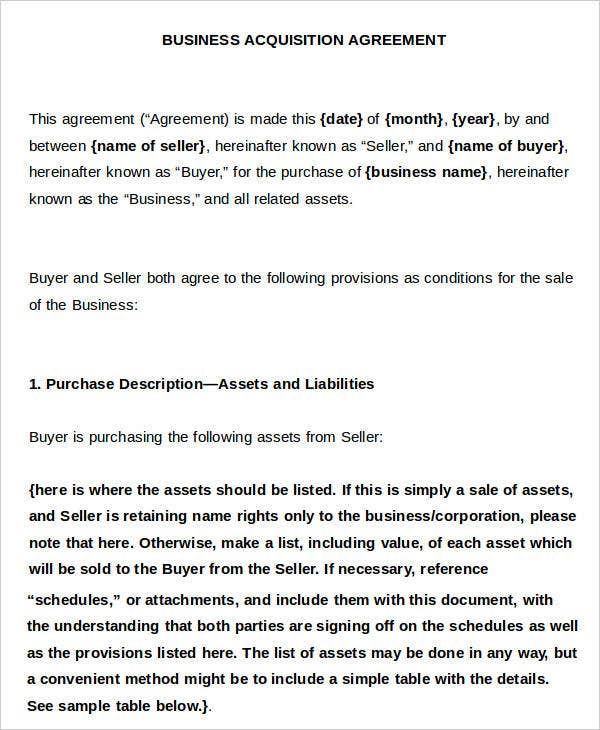 Business Agreement Contracts And Business Agreements And Business