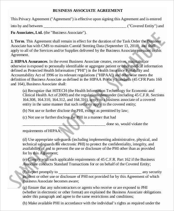 9 business agreement templates samples examples format for Corporate partnership agreement template