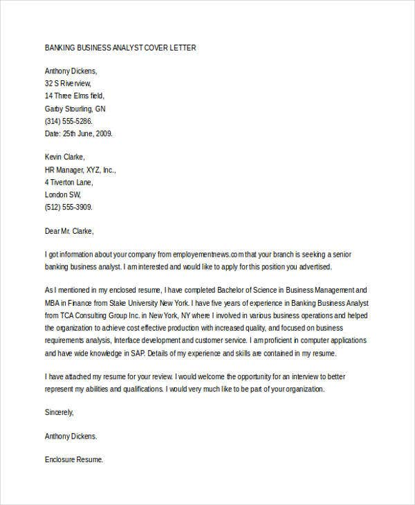 Business Cover Letter -10+ Free Word, PDF Format Download ...