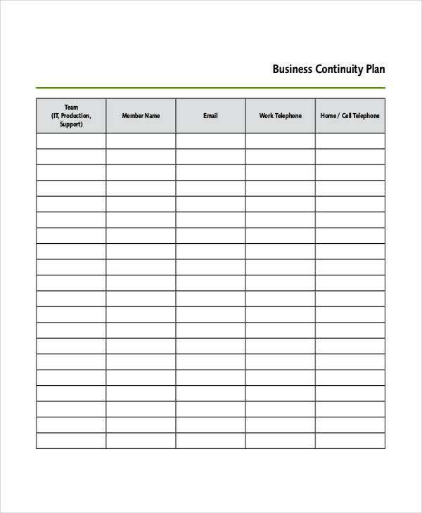 business continuity plan1