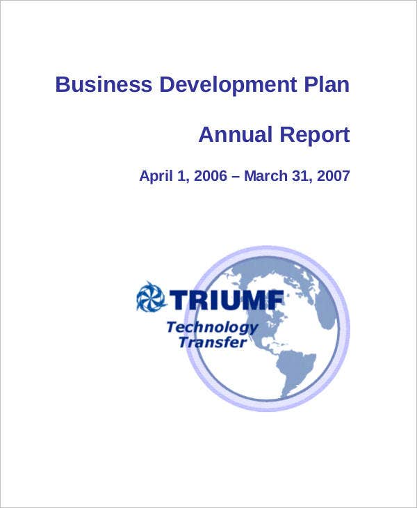 business development plan annual report1