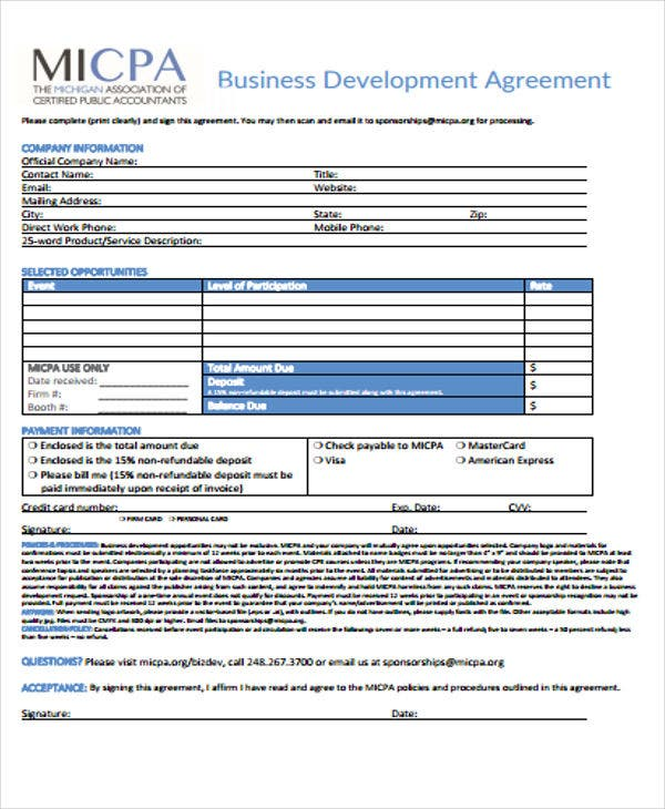 Free Agreement Templates  Free  Premium Templates