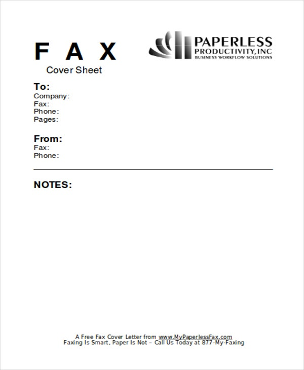 business fax cover