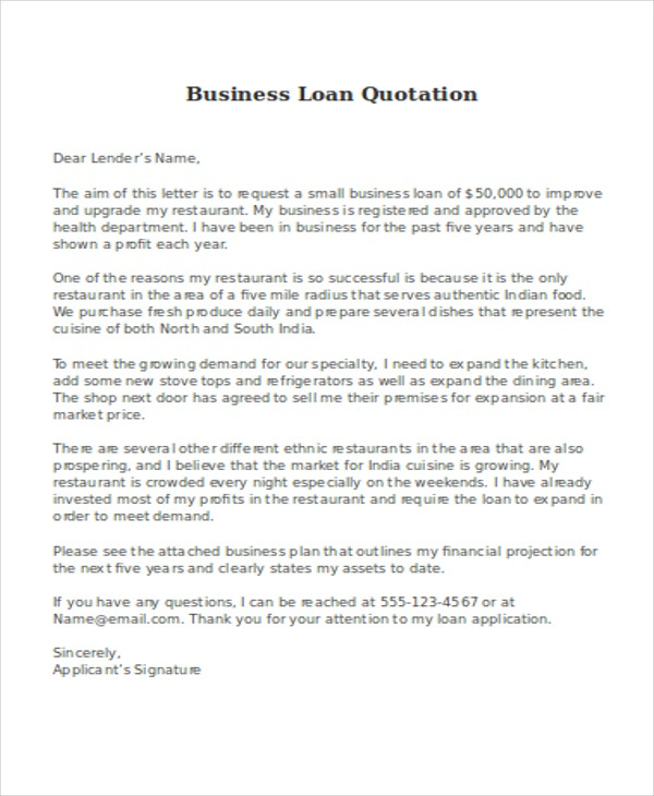 Business quotations 11 free sample example format download business loan expocarfo Choice Image