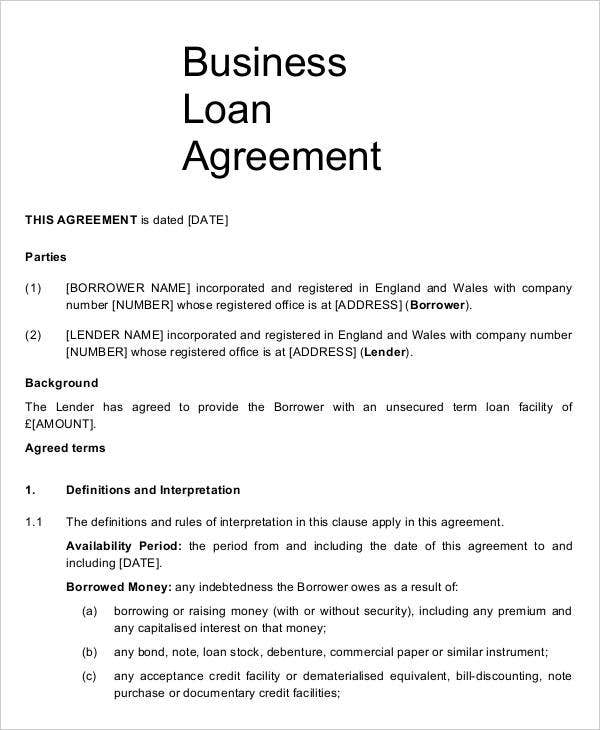 9 Business Agreement Templates Samples Examples Format – Sample Commercial Security Agreement Template