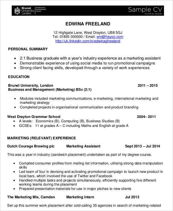 business curriculum vitae template 8 free word pdf
