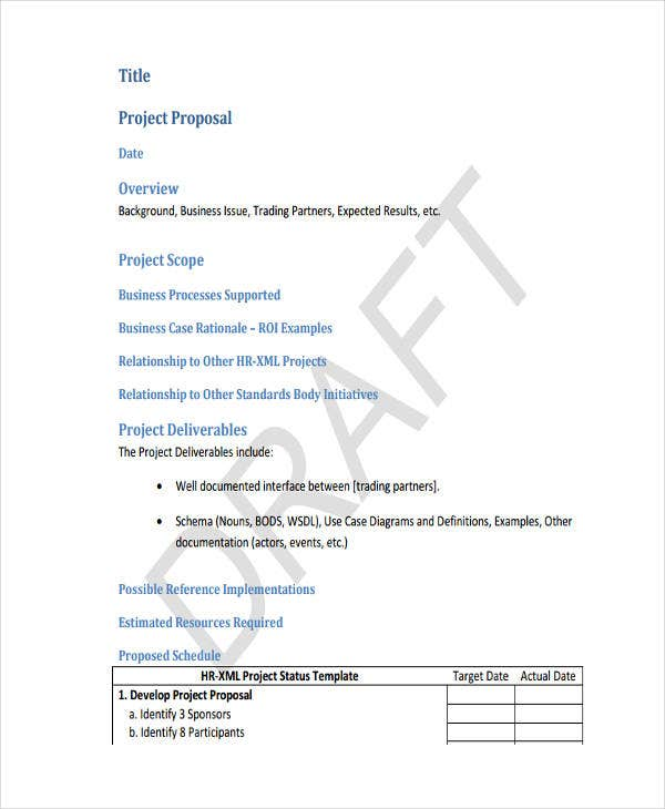 Business Project Template  Business Project Proposal Template