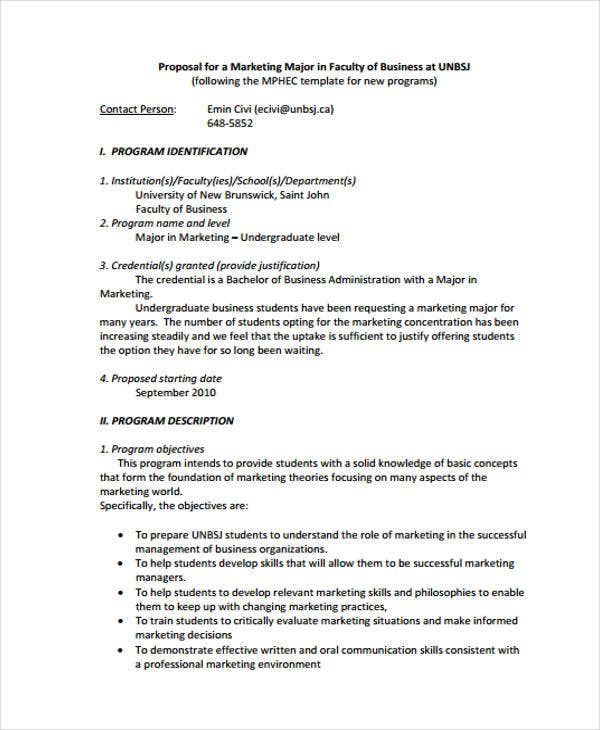 Marketing Business Proposal Templates - 9 Free Word, PDF Format ...