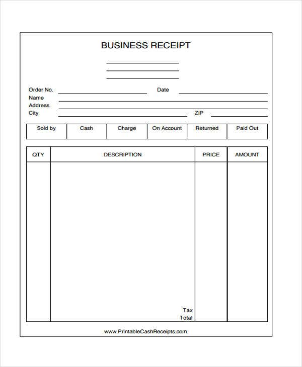 45 printable receipt templates free premium templates printable business receipt templates flashek Images
