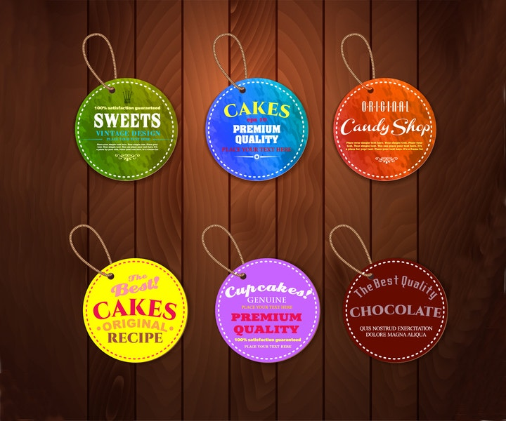 cake product tag