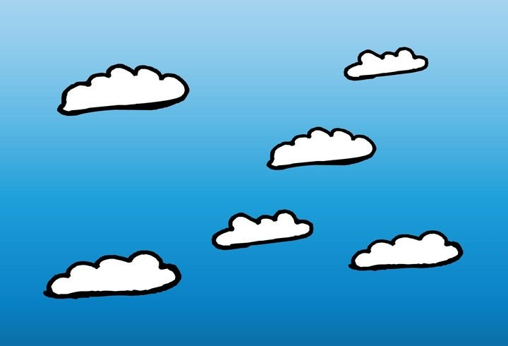 cartoon cloud shapes