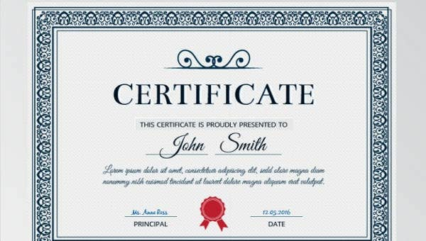 certificate formats templates