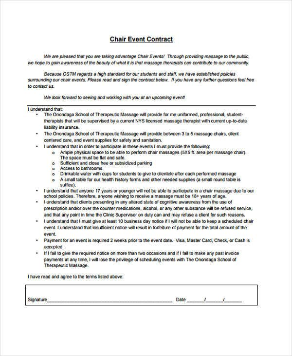 18 Event Contract Templates