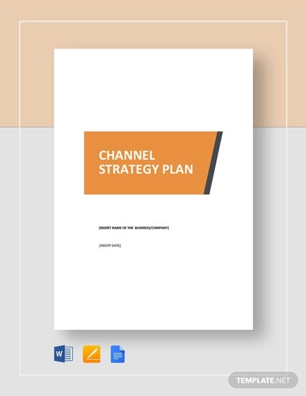 channel strategy plan template