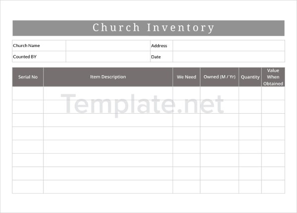 Church Inventory