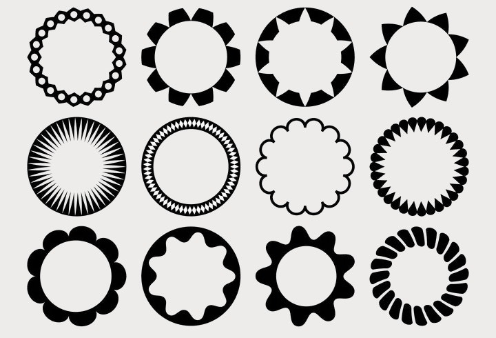 circular vector shapes