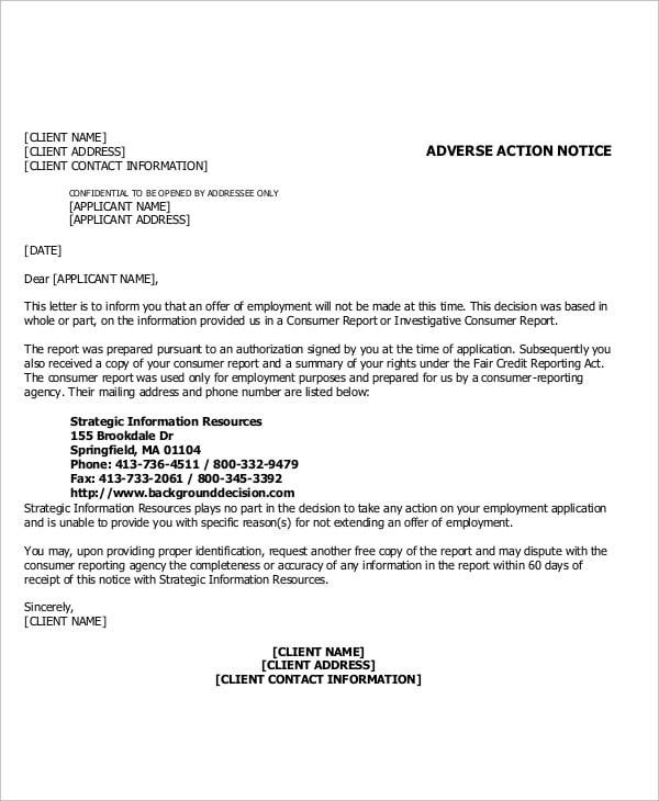 client notice