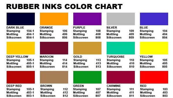 colorcharttemplatessamplesexamples