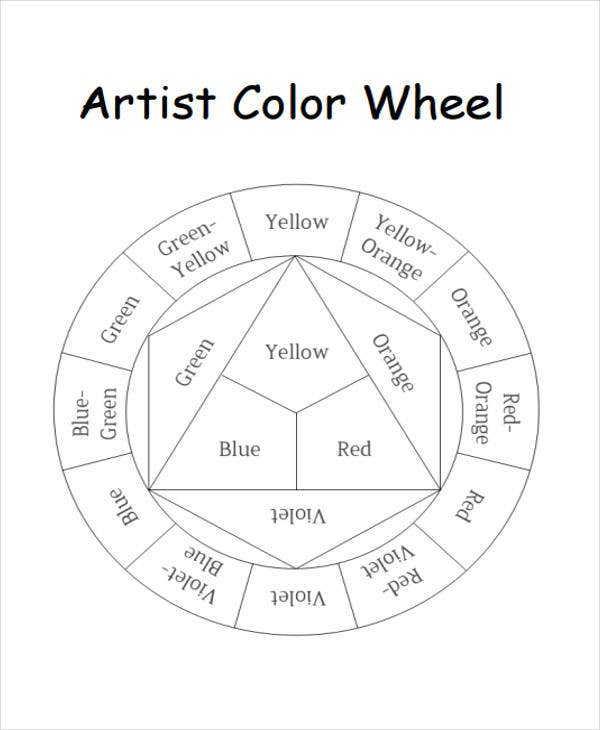 10 color chart templates samples examples free for Food wheel template