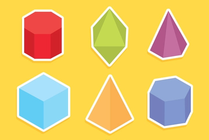 colored geometric shapes