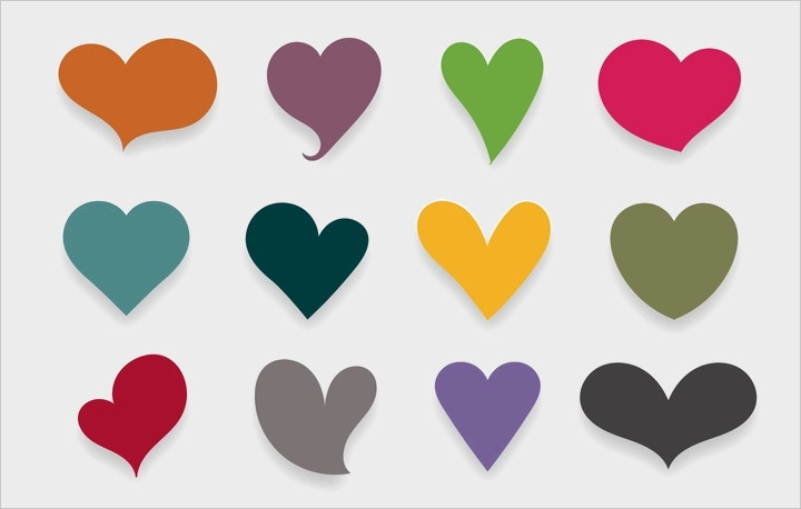 colorful-hearts-vector