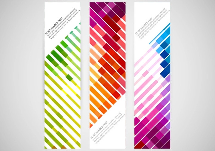 colorful vertical banner