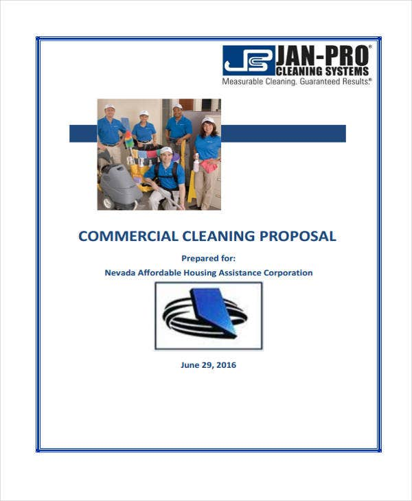 Cleaning Service Proposal Templates Free Sample Example Format