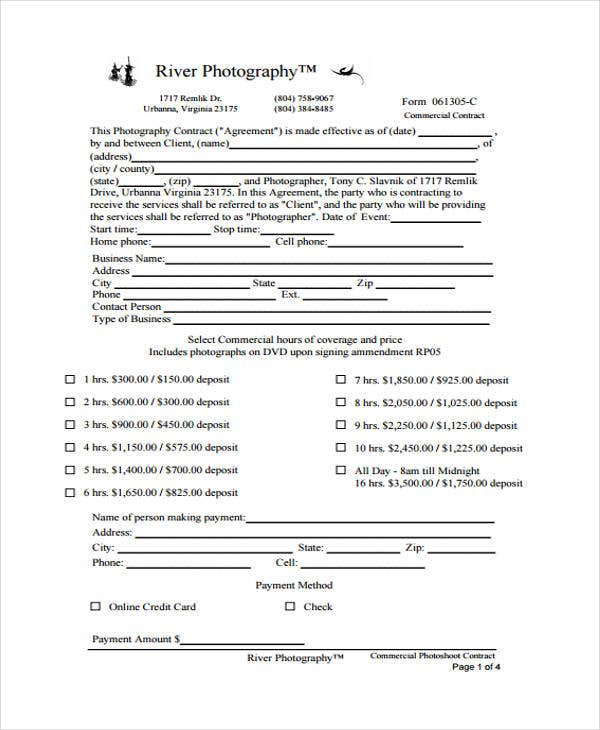 9 Photography Contract Templates