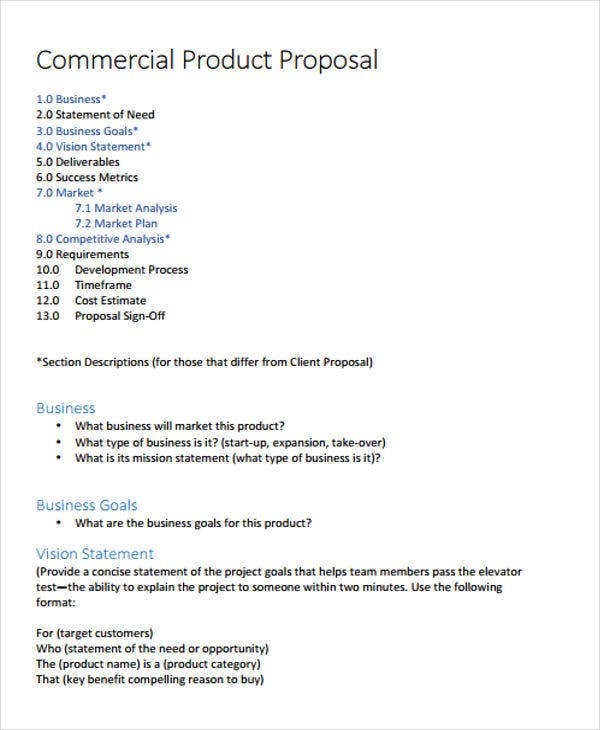 Product Business Proposal Templates - 7 Free Word, PDF Format