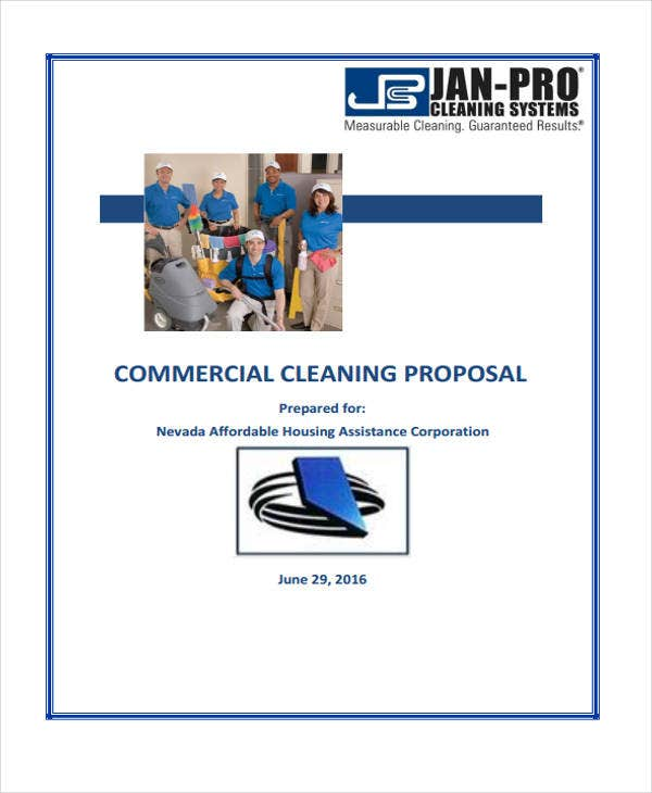 commercial cleaning proposal template free