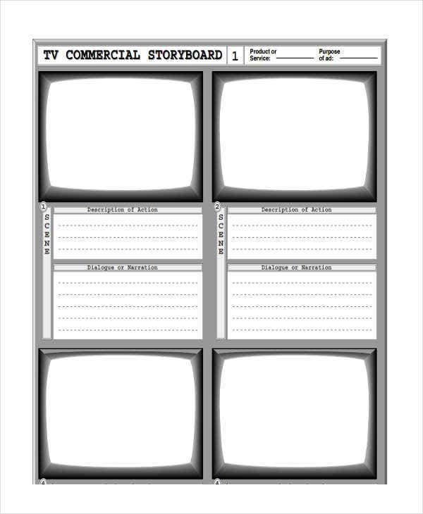 commercial storyboard for advertising