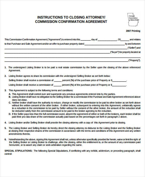 Confirmation Agreement Templates  Free Sample Example Format