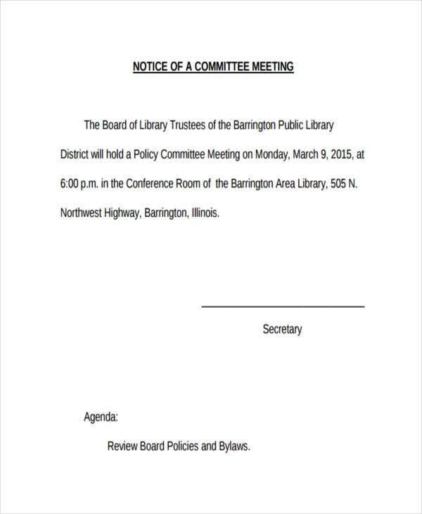 committee notice1
