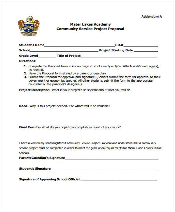 community service proposal template 12 community proposal templates free sample example