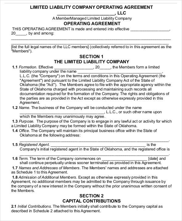 company agreement