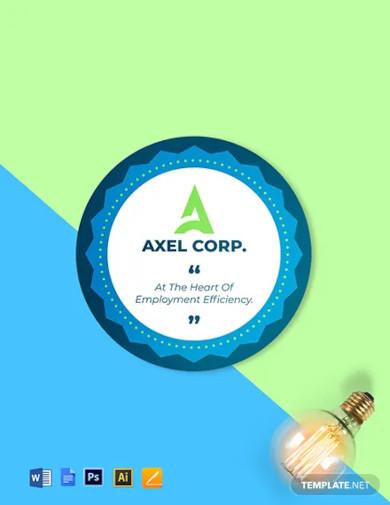company logo badge round badge template