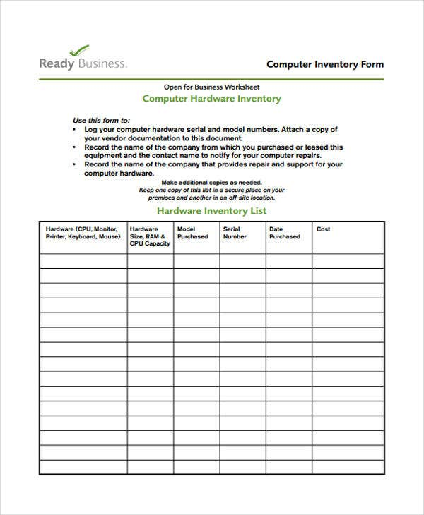 computer business inventory
