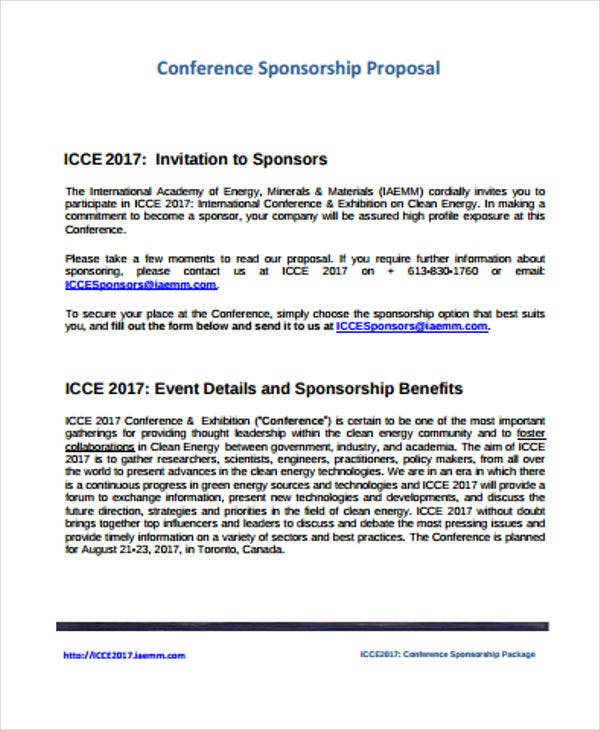 Conference Proposal Templates  Free Sample Example Format