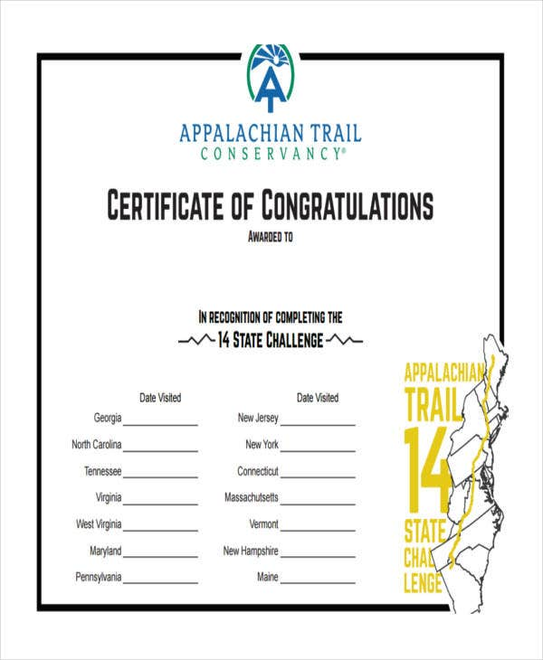 congratulations certificate example