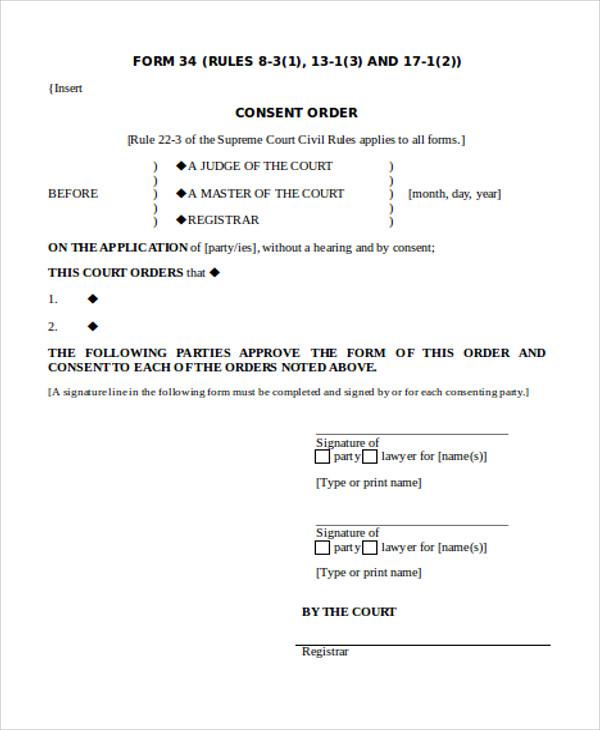 consent order